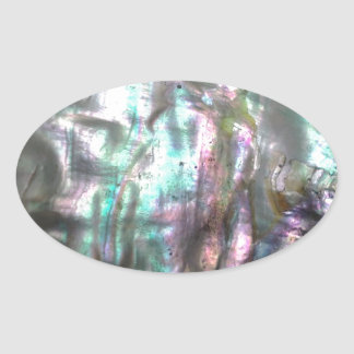 Abalone Shell Oval Sticker