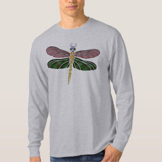 Abalone Shell & Stained Glass Dragonfly T-Shirt