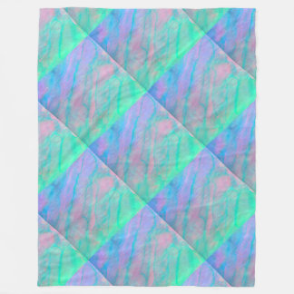 Abalone Shell Watercolor Mother of Pearl Stone Fleece Blanket