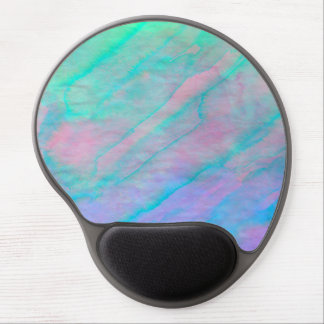 Abalone Shell Watercolor mother-of-pearl Stone Gel Mouse Pad