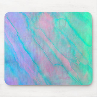 Abalone Shell Watercolor mother-of-pearl Stone Mouse Pad