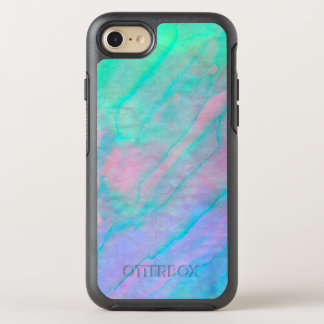 Abalone Shell Watercolor mother-of-pearl Stone OtterBox Symmetry iPhone 8/7 Case