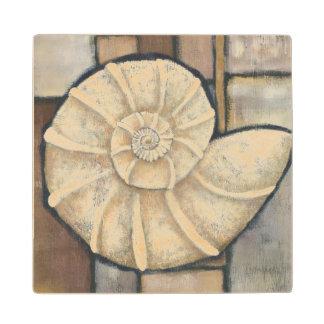 Abalone Shell Wood Coaster