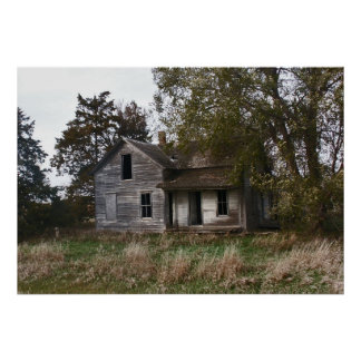 Abanded South Dakota farm stead. Poster