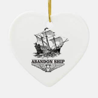 abandon ship yeah christmas ornament