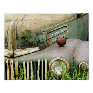 Abandoned Antique Car Poster