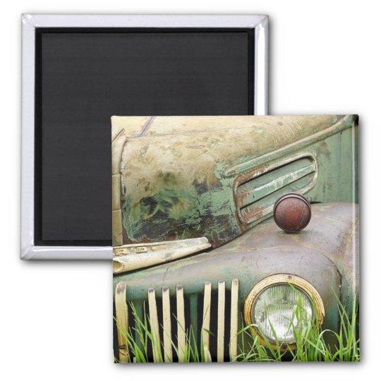 Abandoned Antique Vintage Car Magnet