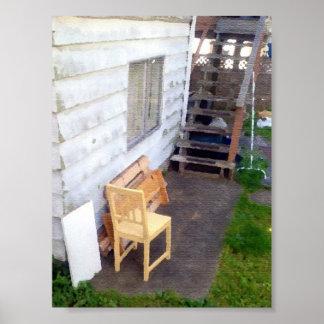 Abandoned Backyard Chair Print