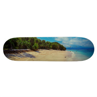 Abandoned beach skateboards