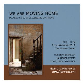 Abandoned blue Moving Home Custom Invite