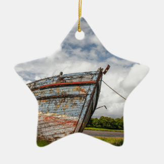 Abandoned Boat at Kirkcudbright Christmas Ornament