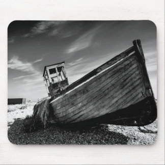 Abandoned Boat On Dungeness Beach Mouse Mat