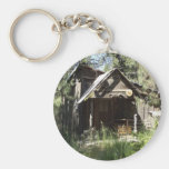 Abandoned Cabin in the Woods Key Chain