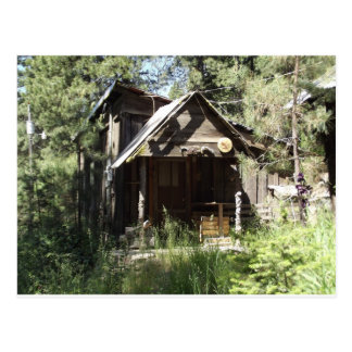 Abandoned Cabin in the Woods Postcard