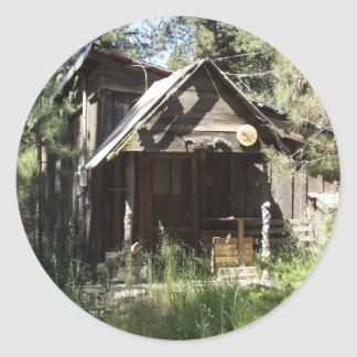 Abandoned Cabin in the Woods Round Sticker