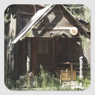 Abandoned Cabin in the Woods Square Sticker