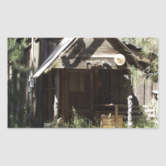 Abandoned Cabin in the Woods Rectangular Sticker