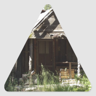 Abandoned Cabin in the Woods Triangle Sticker