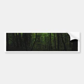 Abandoned dark forest bumper sticker