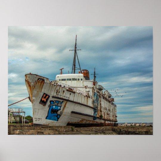 Abandoned Delapidated Boat with Graffiti Poster | Zazzle.co.ukZazzle