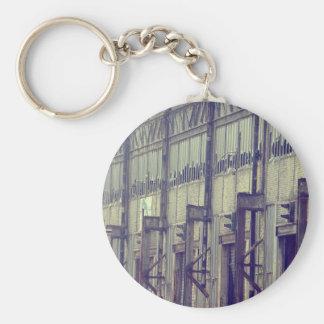 Abandoned Factory Basic Round Button Key Ring