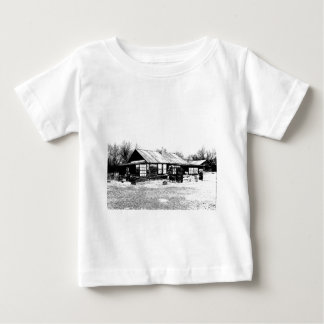 Abandoned Homestead in Black and White Baby T-Shirt