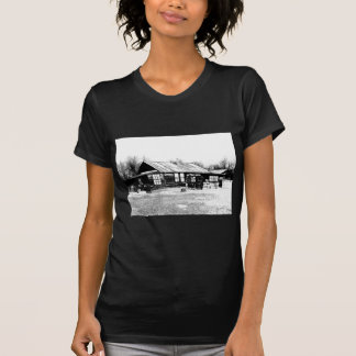Abandoned Homestead in Black and White T Shirts