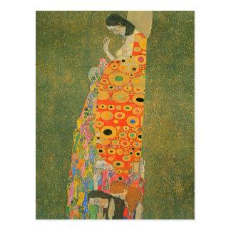 Abandoned Hope by Gustav Klimt Postcard