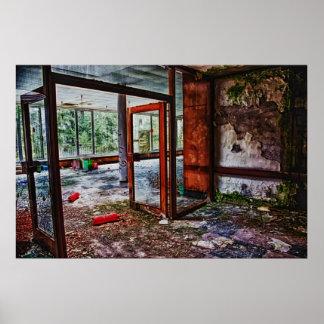 abandoned hospital print