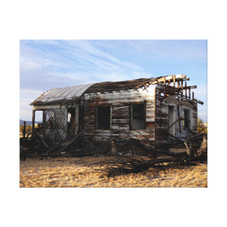 Abandoned House In Kelso California Canvas Print