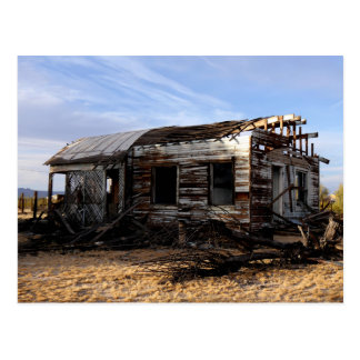 Abandoned House In Kelso California Postcard