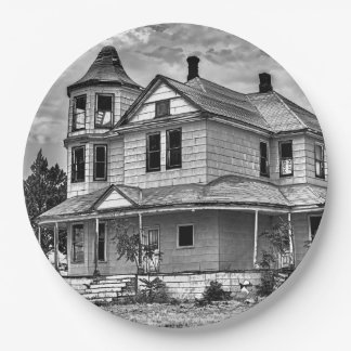 ABANDONED HOUSE PAPER PLATE