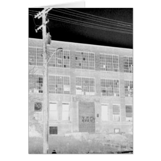 Abandoned Manufacturing Building - negative Greeting Card