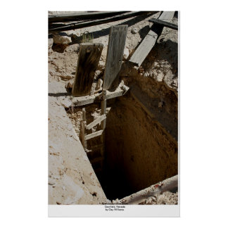 Abandoned Mine Shaft, Gemfield, Nevada Poster