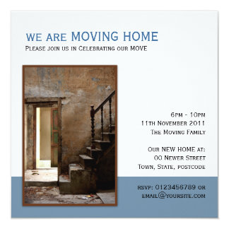 Abandoned Moving Home 13 Cm X 13 Cm Square Invitation Card