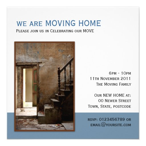 Abandoned Moving Home Personalized Invitation