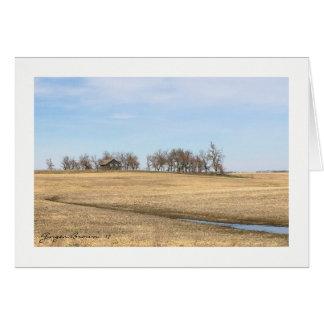 Abandoned Prairie Homestead In North Dakota #2B Card