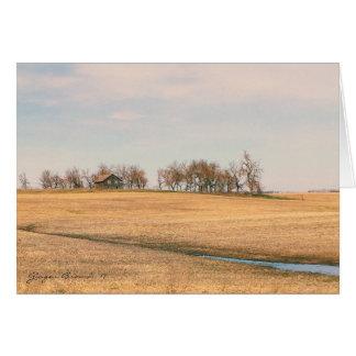 Abandoned Prairie Homestead In North Dakota #3 Card