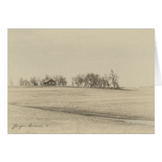 Abandoned Prairie Homestead In Sepia Tones #4S Card