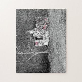 Abandoned punks hut artistic photo polish forest jigsaw puzzle