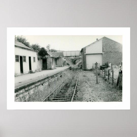 Abandoned railway station Watchet Somerset photo Poster