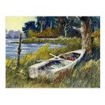 Abandoned Rowboat- postcard