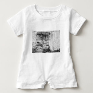 Abandoned shop forgotten bw baby bodysuit