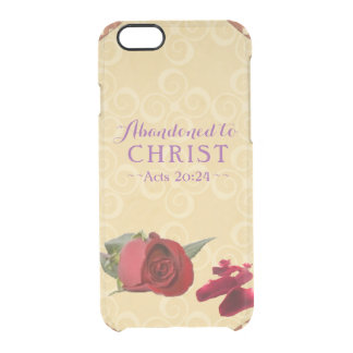 Abandoned to Christ - Acts 20:24 Clear iPhone 6/6S Case