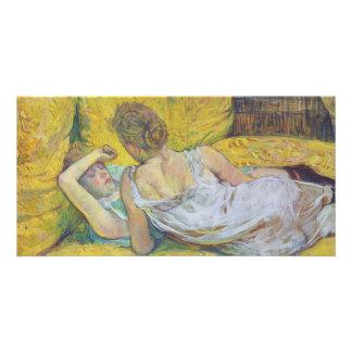 Abandonment The Pair by Henri de Toulouse-Lautrec Photo Card Template