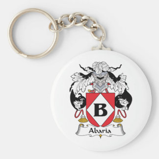 Abaria Family Crest Basic Round Button Key Ring