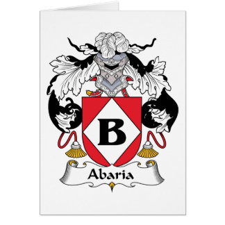 Abaria Family Crest Greeting Card
