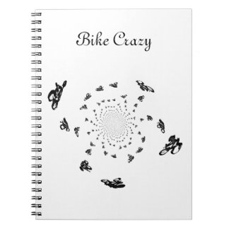 Abatract Bicycle Race Art Spiral Notebook
