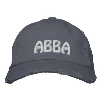 "ABBA - Aramaic word for ""father."" Embroidered Hats"