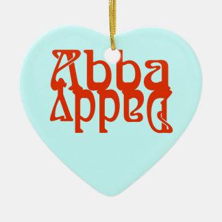 Abba Daddy (Father God) Ceramic Heart Decoration